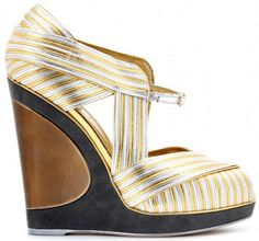 gold and silver wedges