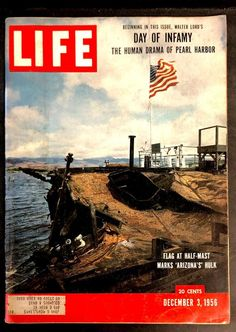 Vintage Life Magazine Day Of Infamy Pearl Harbor, Vintage Ads & Much More! Life Magazine, Pearl Harbor Day, Pearl Harbor Attack, Vintage Magazines, Vintage Ads, Vintage Signs, Remember Pearl Harbor, Day Of Infamy, Life Cover