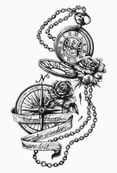 Pocket Watch Tattoo On Hand . Pocket Watch Tattoo On Hand . Broken Pocket Watch Tattoo by tony Nguyen Trendy Tattoos, Cool Tattoos, Tatoos, Anklet Tattoos, Dope Tattoos For Women, Urban Tattoos, Feminine Tattoos, Awesome Tattoos, Tattoo Drawings