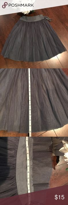 Girls Gray Tulle Skirt Tulle gray skirt good condition measurements are on the pictures. No steams stains or rips. Dresses Casual