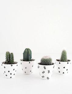 DIY Mini Pattern Plant Pots