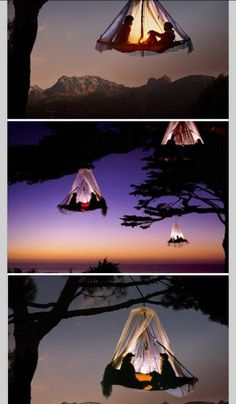 Creative way to go camping. You can find this in Germany mostly.