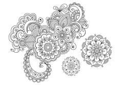 Floral Elements Doodle (3) - Doodle is Art