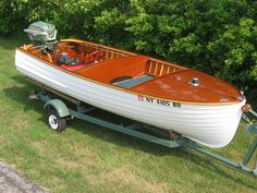Have you been thinking about building your own boat, but think it may be too much hassle? It is true that boat plans can be pretty complicated. Old Boats, Small Boats, Lyman Boats, Sailing Dinghy, Boat Restoration, Classic Wooden Boats, Build Your Own Boat, Plywood Boat, Vintage Boats