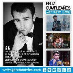 ¡Qué bien le han sentado los años a #MatthewLewis! Feliz cumpleaños No. 26 #HarryPotter