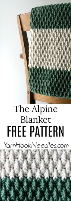 The Alpine Baby Blanket Pattern! - YarnHookNeedles