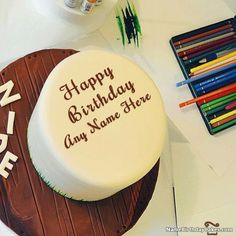 Cool Birthday Cake For Boys With Name