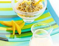 Oppgrader havregrøten med chiafrø og ingefær Cereal, Breakfast, Recipes, Food, Morning Coffee, Recipies, Essen, Meals, Ripped Recipes