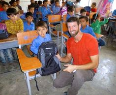 Chris Clary, Spirit of America Project Manager, delivers school supplies with US soldiers before returning to the States from Afghanistan. #SpiritofAmerica #SoA #Afghanistan #humanitarian #nonprofit #education