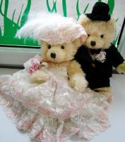 Wedding Teddy Bears | Sell wedding teddy bears[wedding gift]-miniature craft world Co., Ltd