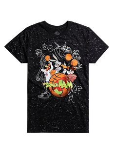3302a5a44063 Space Jam Looney Tunes Tune Squad Splatter T-Shirt