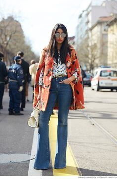 #StreetStyle -- jeans, shirt, coat