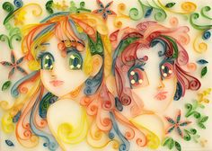 Stela and Sabrina - Quilling by starca.deviantart.com on @DeviantArt