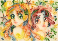 Stela and Sabrina - Quilling by starca.deviantart.com on @DeviantArt