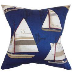 Hemavan Nautical Cotton Throw Pillow