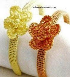 Diademas tejidas a crochet   Mimundomanual