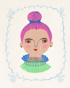Magenta Topknot by Sarah Walsh by Tigersheepfriends on Etsy https://www.etsy.com/uk/listing/124857516/magenta-topknot-by-sarah-walsh
