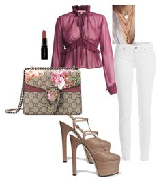 """""""Give me height"""" by kai-d-kloset on Polyvore featuring Gucci, Paige Denim and Smashbox"""