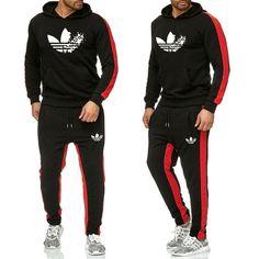 7597db66595 2019 la nueva marca Sudadera con capucha + Pantalones traje deportivo  chándal de los hombres de
