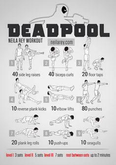 Deadpool workout.