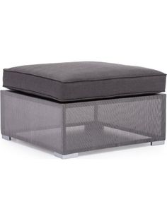 Zuo Outdoor Clear Water Bay Ottoman, Grey (Discontinued by Manufacturer) ❤ Zuo Modern - Lawn & Garden