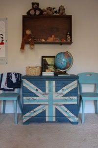 blue union jack dresser