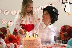 Oh I wish I had a girl to have a Marry Poppins Birthday Party like this one WOW!