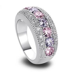Topaz & Amethyst 925 Silver Ring