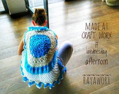 Circular Vest crocheted by DoSchu • made at CRAFT WORX - every wednesday afternoon at Rayaworx Coworking