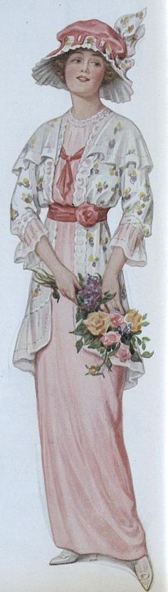 1914 garden party outfit