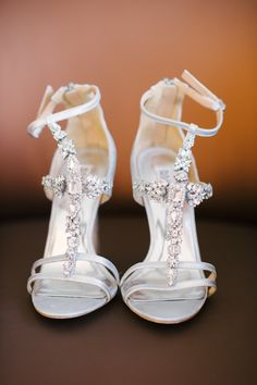 Fun Silver Crystal Badgley Mischka Wedding Shoes
