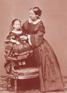 Queen Victoria with Princess Beatrice c.1861