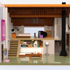 Lego Minecraft, Minecraft Houses, Lego Lego, Legos, Lego Furniture, Minecraft Furniture, Lego Steven Universe, Instructions Lego, Build My Own House