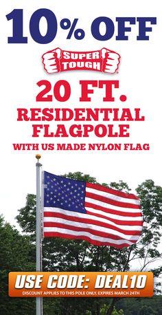 6 Ft Silver Aluminum FLAG POLE w Gold Eagle Top Wall Mount Bracket