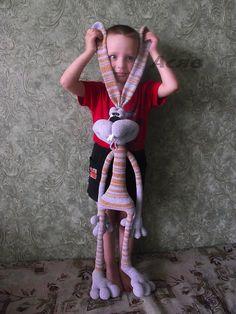 Revelry: Asjav's Dude Rabbit 121 Rabbit dude crochet pattern from LittleOwlsHut  was used to make this guy.
