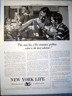 1940 New York Life Insurance Dad & Boy Building Sailboat | by oldsailro