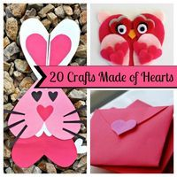 20 Valentine's Day Crafts Made of Hearts! I love making things out of herts!