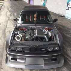 How much HP you think this BMW pushes? Porsche Cars, Bmw Cars, Bmw E30 M3, Street Racing Cars, Mercedez Benz, Bmw Love, Bmw Classic, Power Cars, Japan Cars