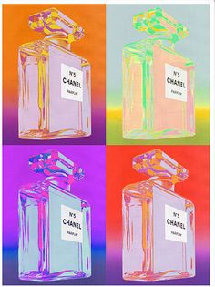"New Chanel No. 5 Vintage Poster Prints as seen on the popular Australian Show ""The Block"".  6 Colours to choose from."