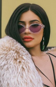 #QUAYXKYLIE AS IF! Sunglasses Clear Purple
