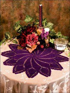 Crochet - Doily Patterns - Pineapple Patterns - Pineapple Pinwheel Doily