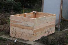 Einfaches Hochbeet selber bauen Holzrahmen fertig