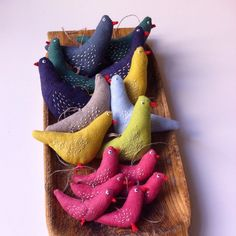Fabric birds by - Ieva (@ievate) on Instagram