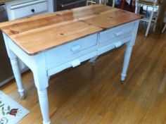 Vintage Farmhouse Bread Table Kitchen Utility by ChristinaBags, $150.00