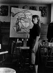 Lee Krasner in studio