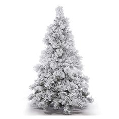 Vickerman 383773  15 x 116 Flocked Alberta with Pine Cones Christmas Tree A155295 * For more information, visit image link.