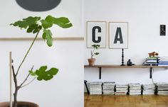 low hanging shelves from design attractor: Two Sweet Scandinavian Interiors from Elle Interior