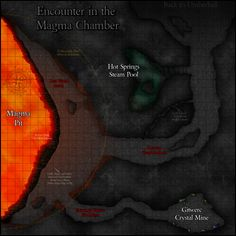 Encounter in the Magma Chamber Map by Justin Andrew Mason. Winner of the 2014 MapMaster award from Adventureaweek.com #Cartography #Map #DnD #Pathfinder #Adventureaweek.com http://adventureaweek.com/mapmaster-contest-winner/