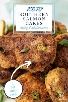 Made without crackers, these keto salmon patties are a clean and low carb version of southern salmon cakes. Pork Recipes, Low Carb Recipes, Healthy Recipes, Sugar Free Peanut Butter Cookies, Southern Salmon Patties, Salmon Patties Recipe, Keto Salmon, Ham Casserole, Salmon Cakes