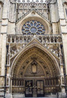 Detalle fachada Catedral de Bristol (Bristol - England)